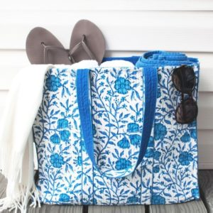 Twenty Nine States - Hand Block Print Tote at Oak Brook Artisan Market