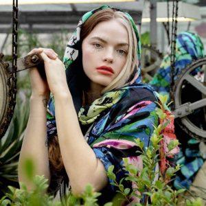 Isabelle Gougenheim - artfful scarves at Oak Brook Artisan Market