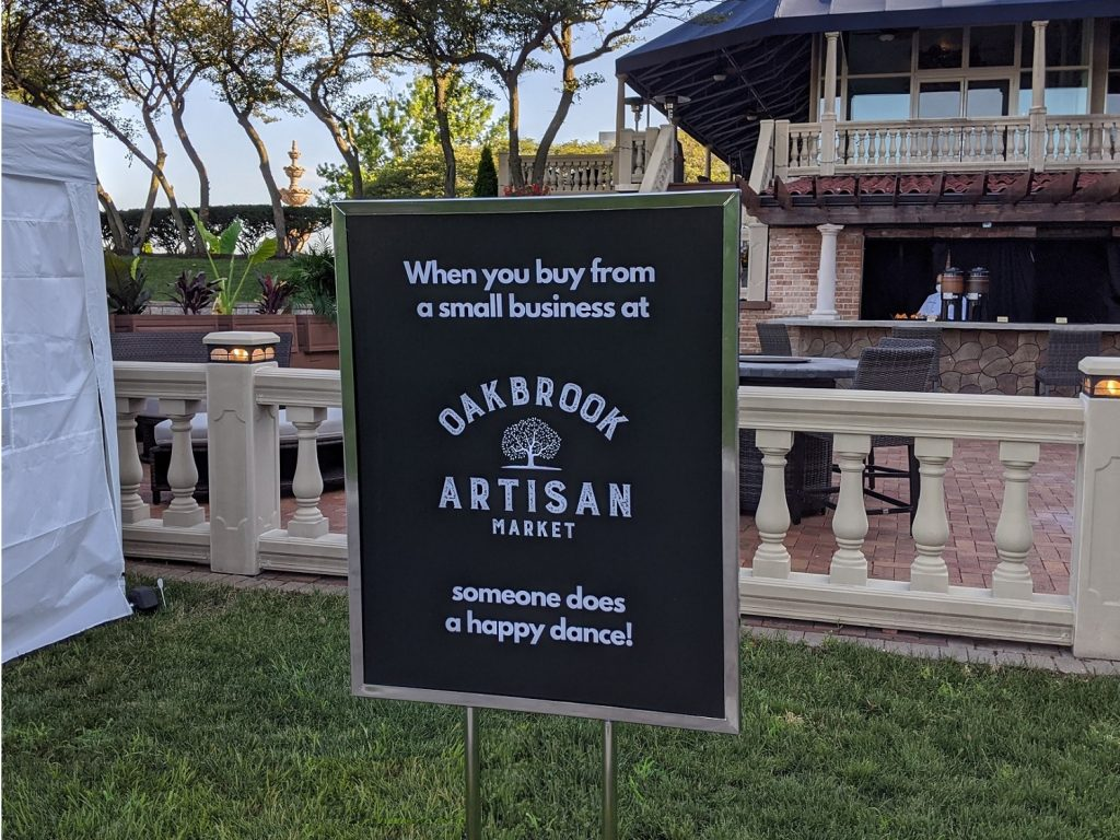 Small Business Happy Dance at Oak Brook Artisan Market