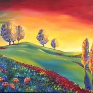 Paint the Town Mary - Oak Brook Artisan Market (oil painting)