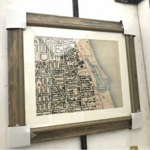 Redefined Map Design - Oak Brook Artisan Market (historical maps framed)